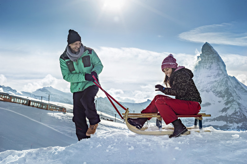 Toboggan half day incl. Gornergrat valid as of 12:15