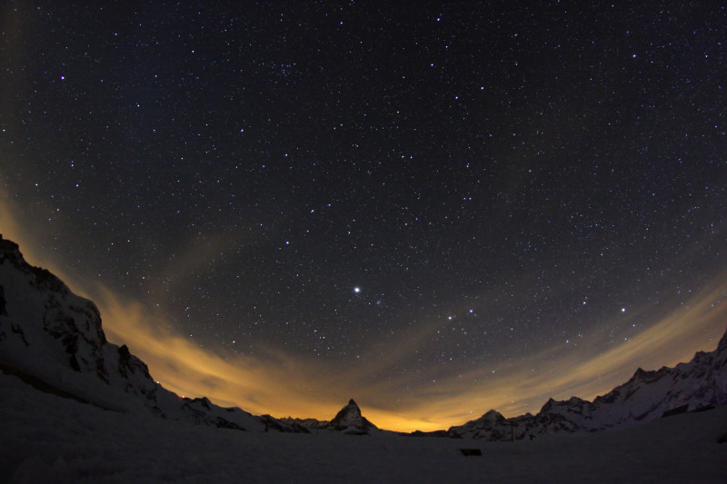 La Fascination du clair de lune au Gornergrat